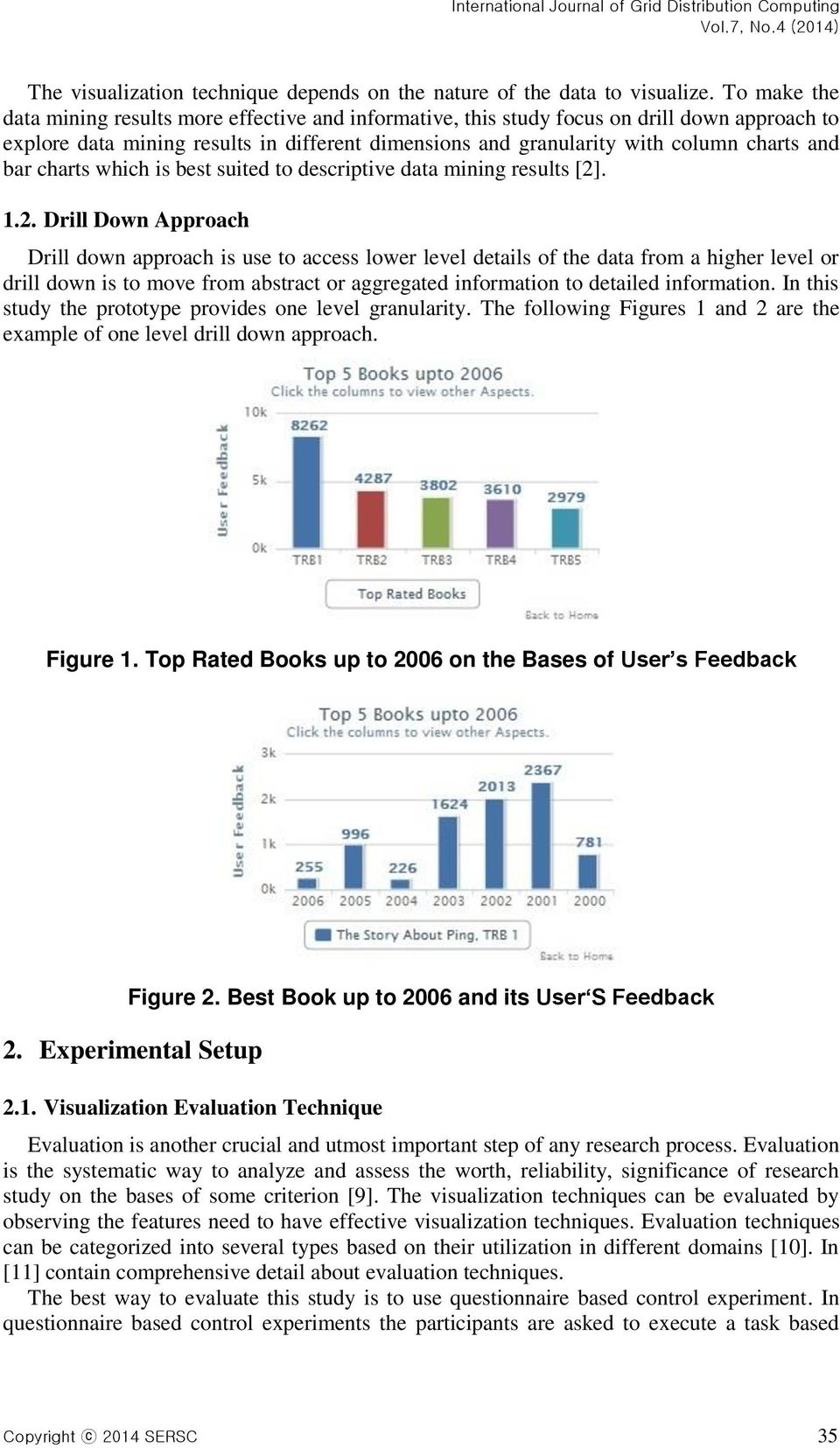 bar charts which is best suited to descriptive data mining results [2]