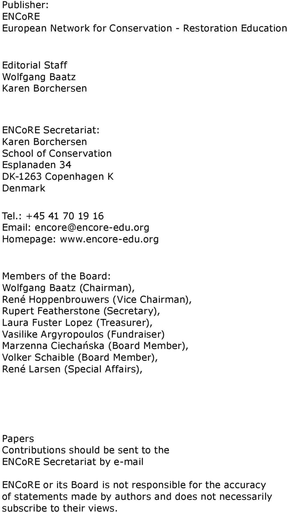 org Homepage: www.encore-edu.