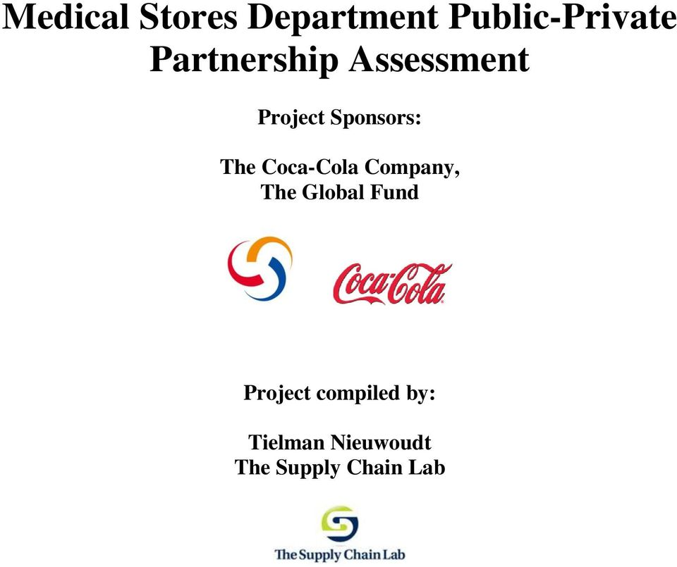 Coca-Cola Company, The Global Fund Project