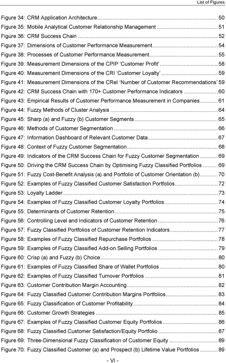 .. 58 Figure 4: Measurement Dimensions of the CRI Loyalty... 59 Figure 4: Measurement Dimensions of the CReI Number of Recommendations 59 Figure 42: CRM Success Chain with 7+ Performance Indicators.