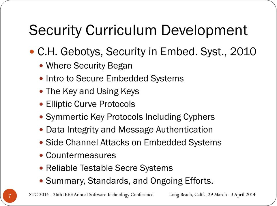 Protocols Symmertic Key Protocols Including Cyphers Data Integrity and Message Authentication Side