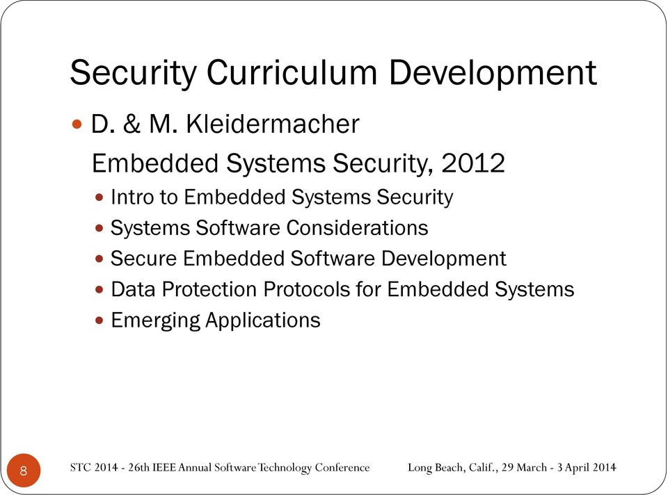 Systems Security Systems Software Considerations Secure Embedded