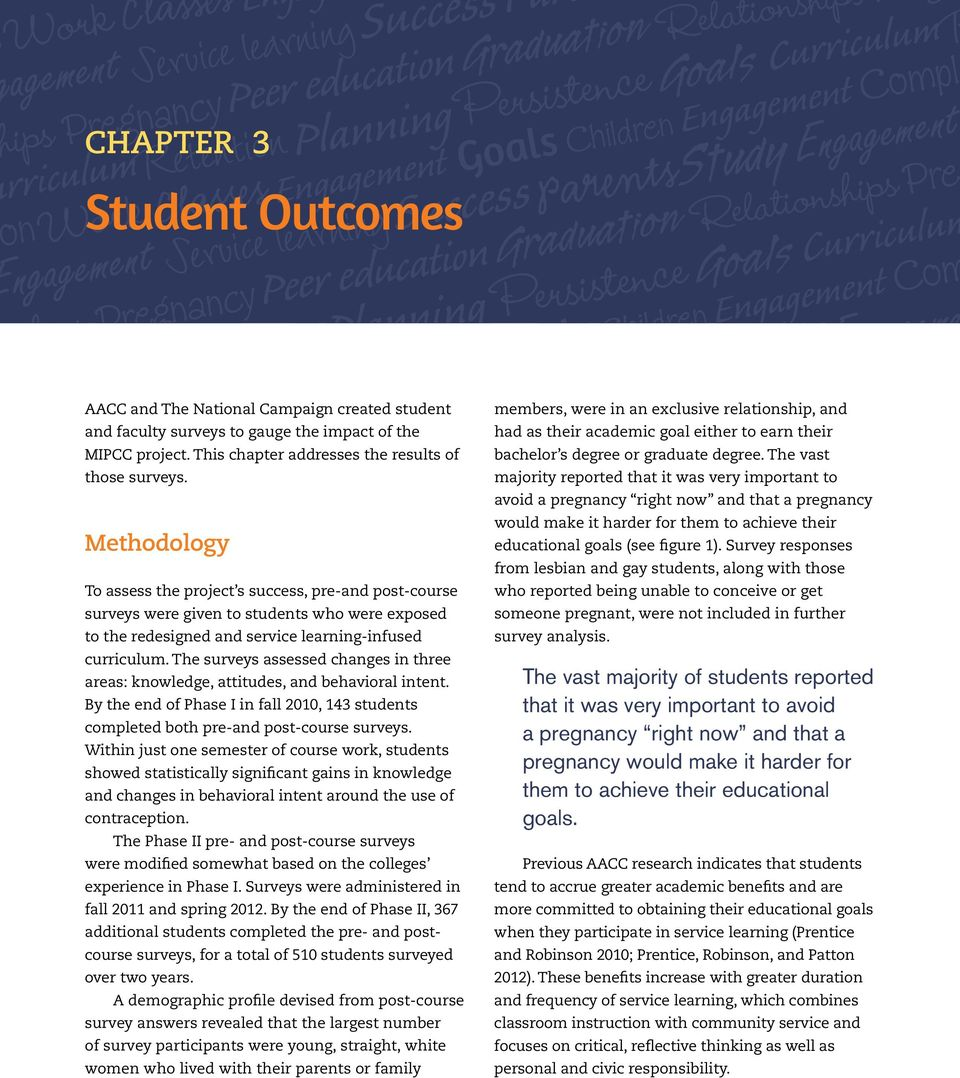 The Naal Campaign created student and faculty surveys to gauge the impact of the MICC project. This chapter addresses the results of those surveys.