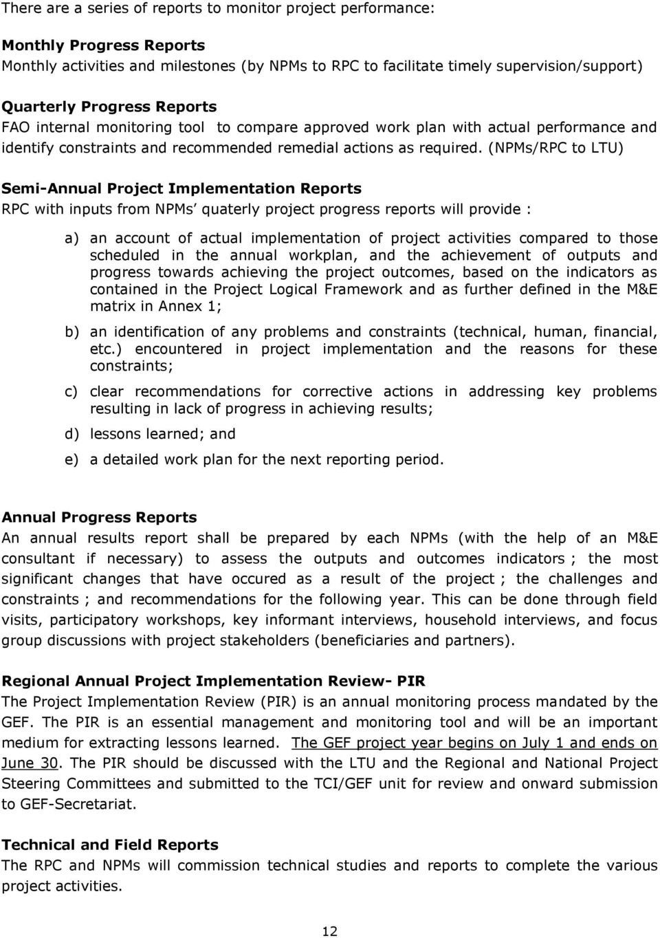 importance of monitoring and evaluation in project management pdf