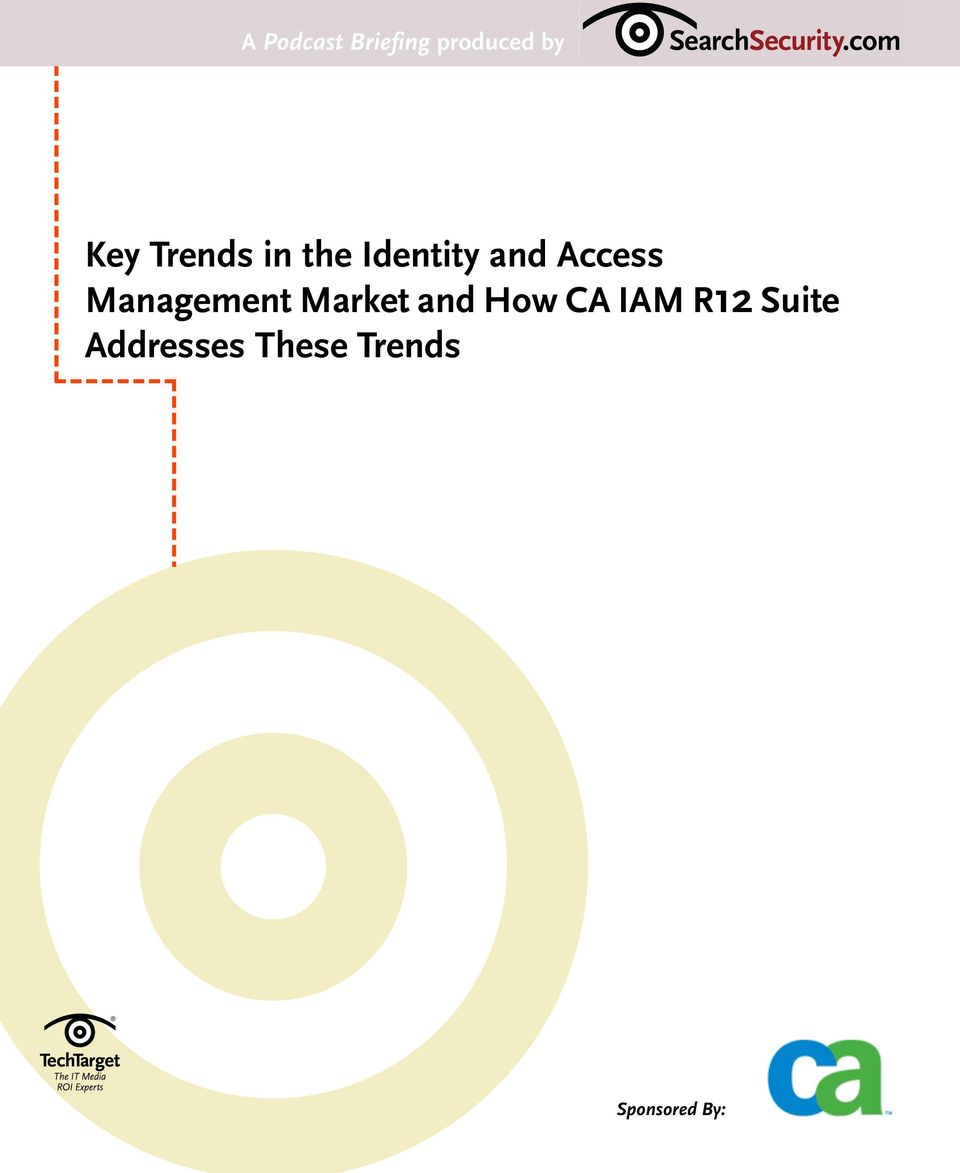 Management Market and How CA IAM R12