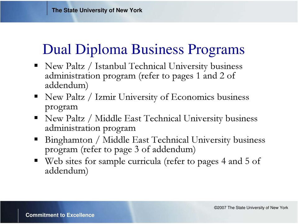 Middle East Technical University business administration program Binghamton / Middle East Technical