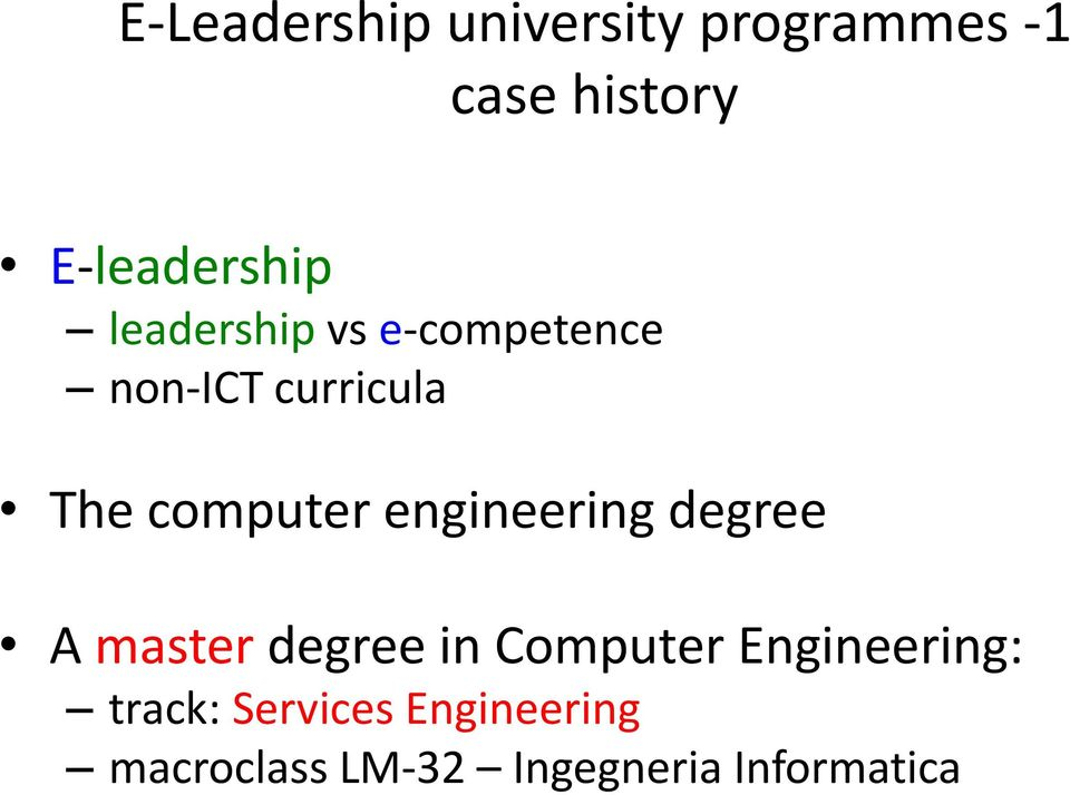 computer engineering degree A master degree in Computer
