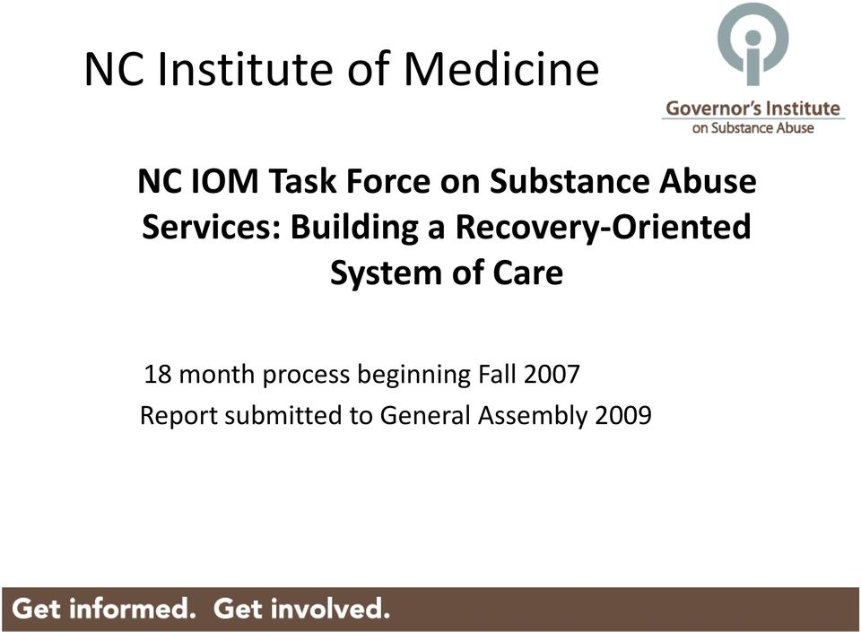 Recovery-Oriented System of Care 18 month
