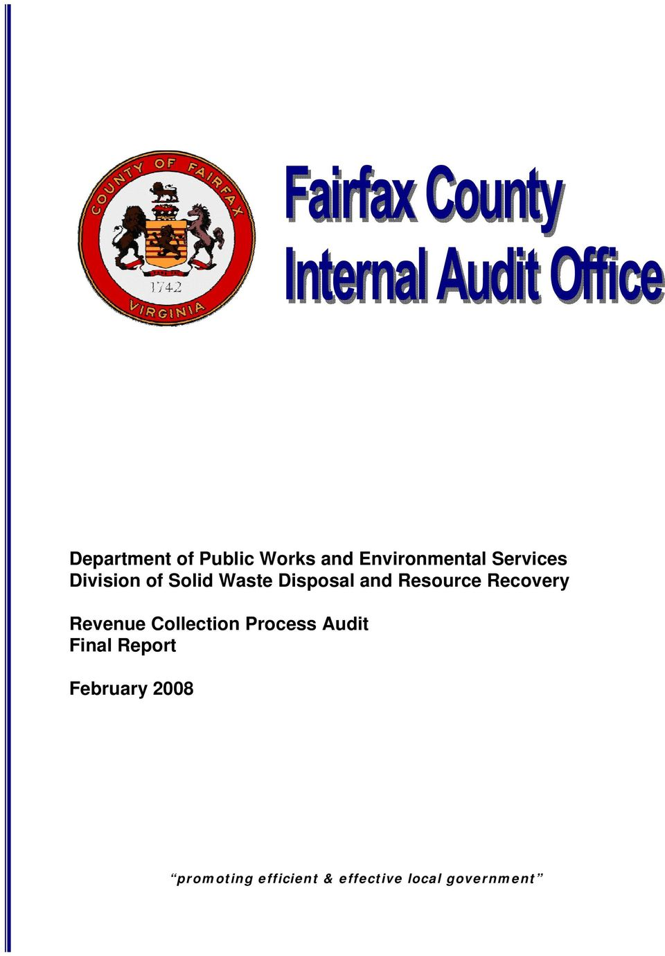 Revenue Collection Process Audit Final Report February
