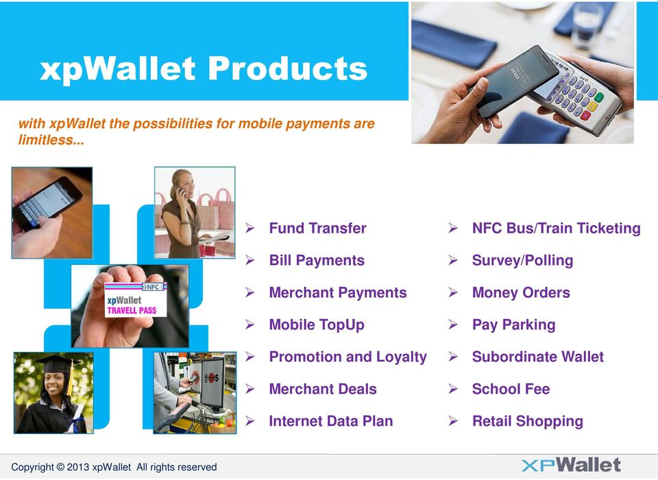 .. Fund Transfer Bill Payments Merchant Payments Mobile TopUp Promotion and