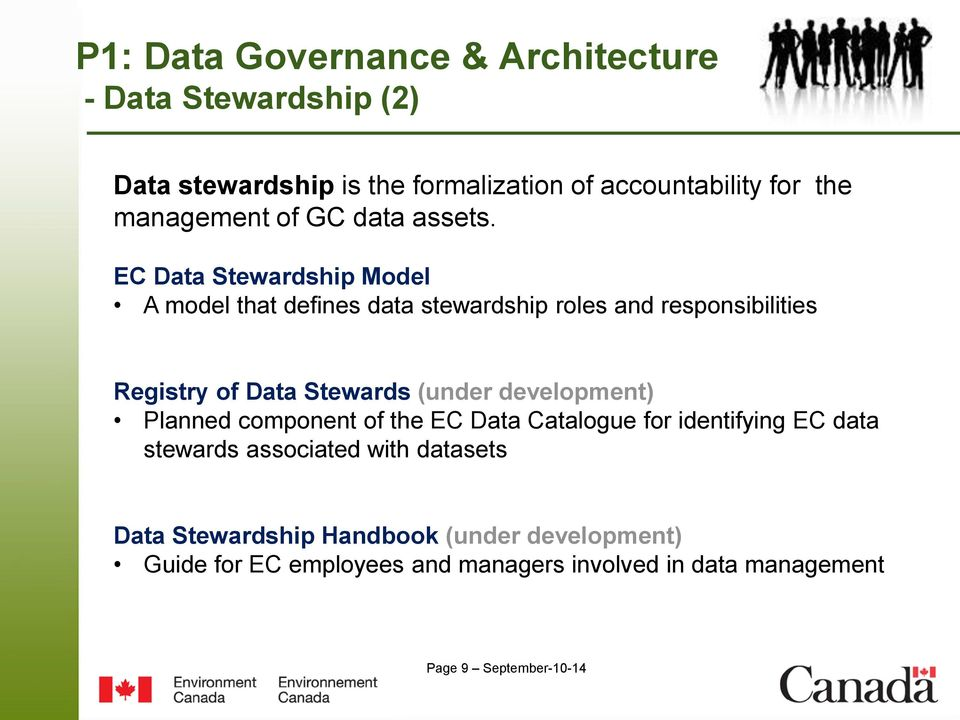 EC Data Stewardship Model A model that defines data stewardship roles and responsibilities Registry of Data Stewards (under