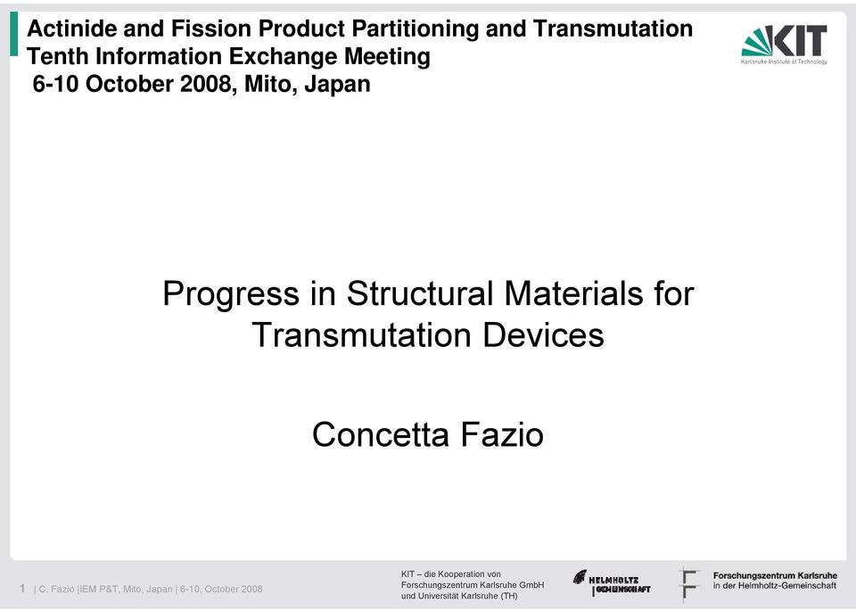 Japan Progress in Structural Materials for Transmutation