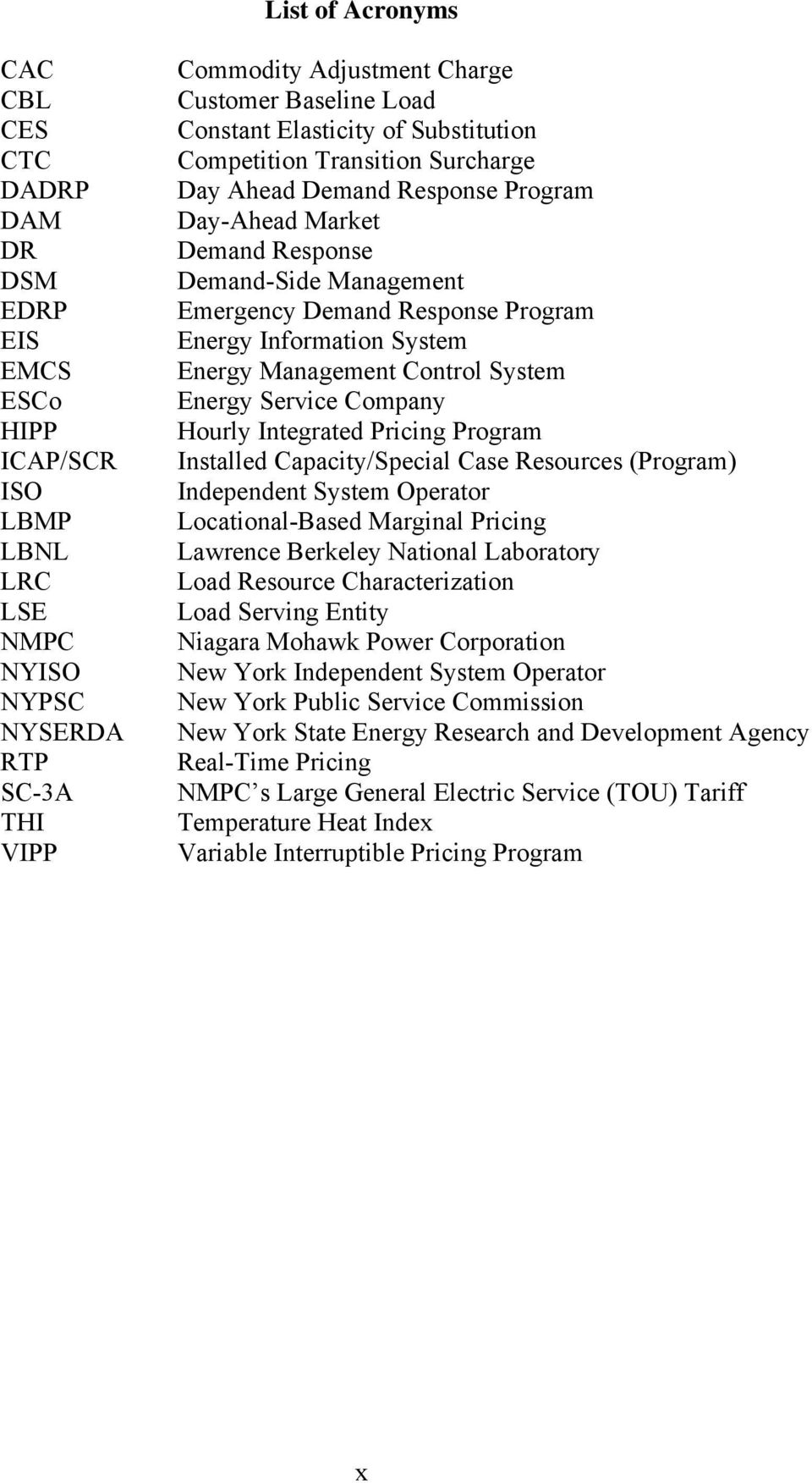 Information System Energy Management Control System Energy Service Company Hourly Integrated Pricing Program Installed Capacity/Special Case Resources (Program) Independent System Operator