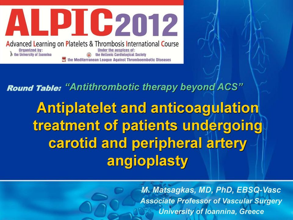 peripheral artery angioplasty M.