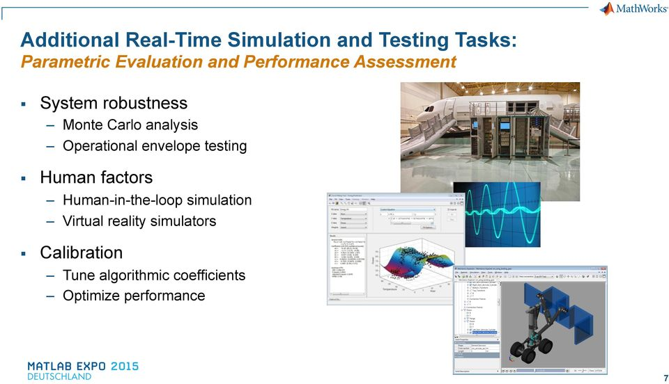 Operational envelope testing Human factors Human-in-the-loop simulation