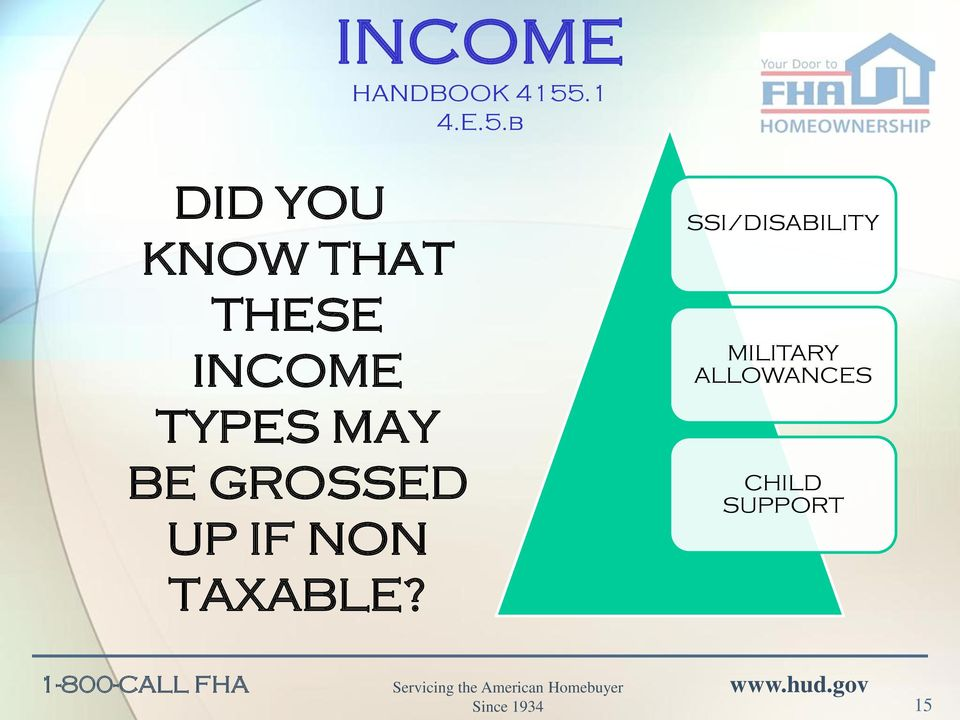 b DID YOU KNOW THAT THESE INCOME TYPES