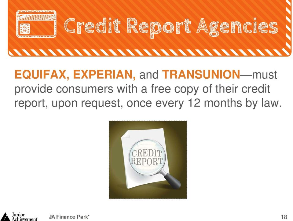 copy of their credit report, upon