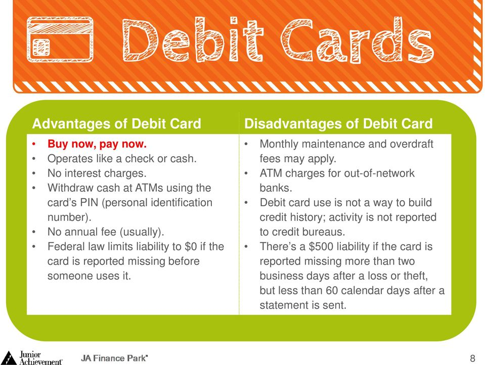Federal law limits liability to $0 if the card is reported missing before someone uses it.