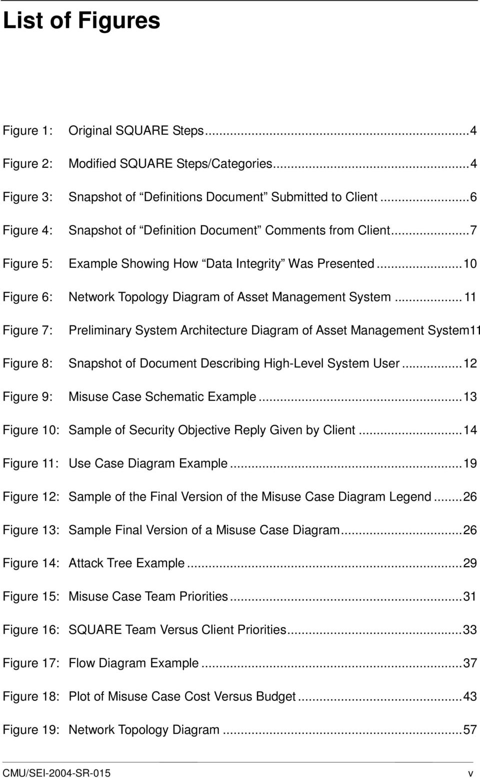 .. 11 Figure 7: Preliminary System Architecture Diagram of Asset Management System11 Figure 8: Snapshot of Document Describing High-Level System User...12 Figure 9: Misuse Case Schematic Example.