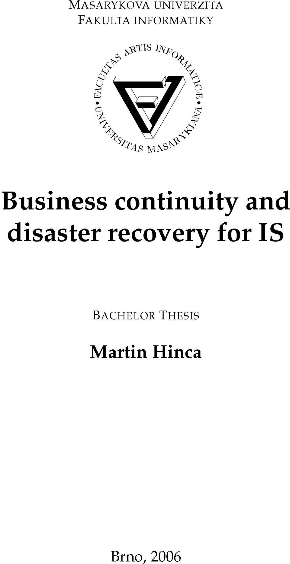 A %, \J/ & Business continuity and