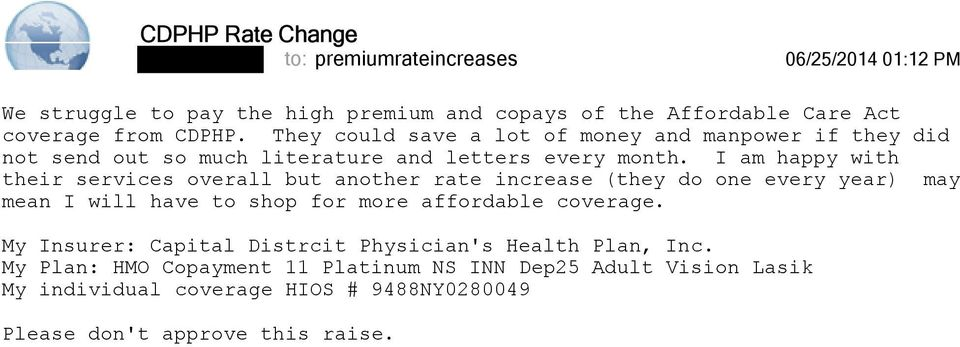 My insurance provider is asking for a 9 1% increase  This