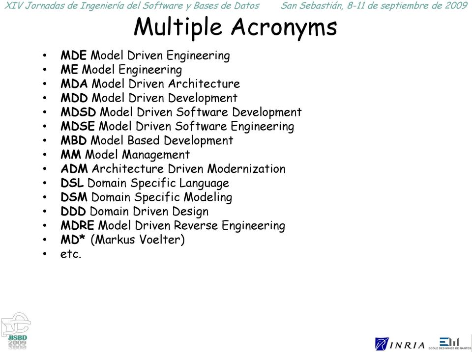 Based Development MM Model Management ADM Architecture Driven Modernization DSL Domain Specific Language DSM