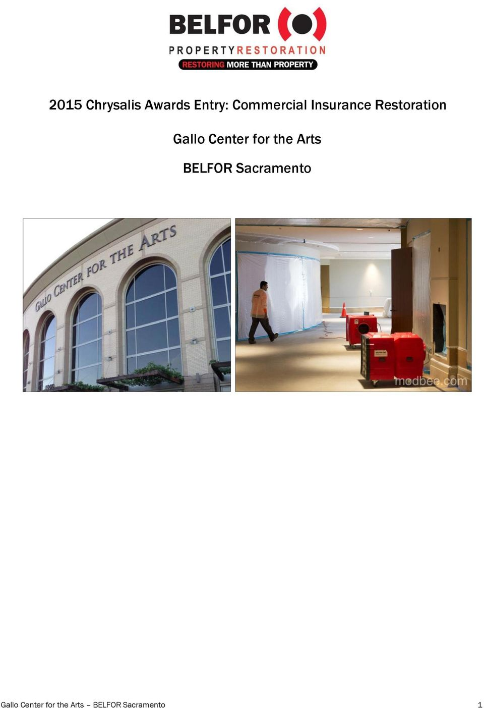 Gallo Center for the Arts BELFOR