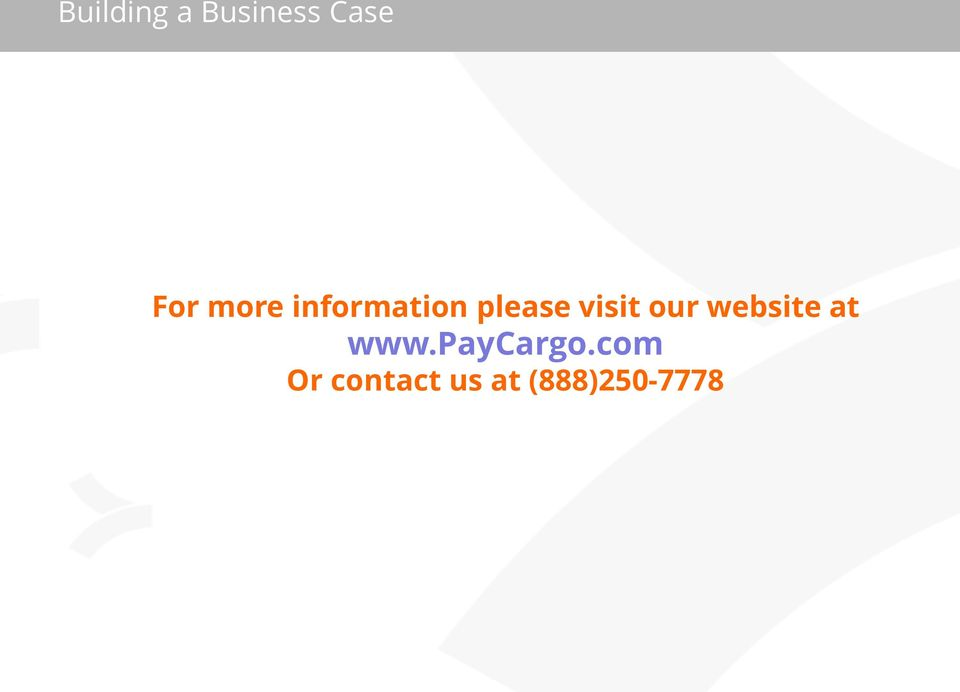 our website at www.paycargo.
