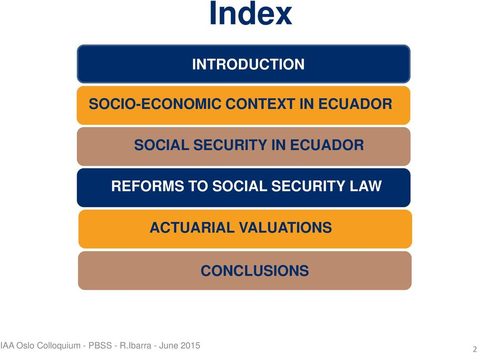SOCIAL SECURITY LAW ACTUARIAL VALUATIONS