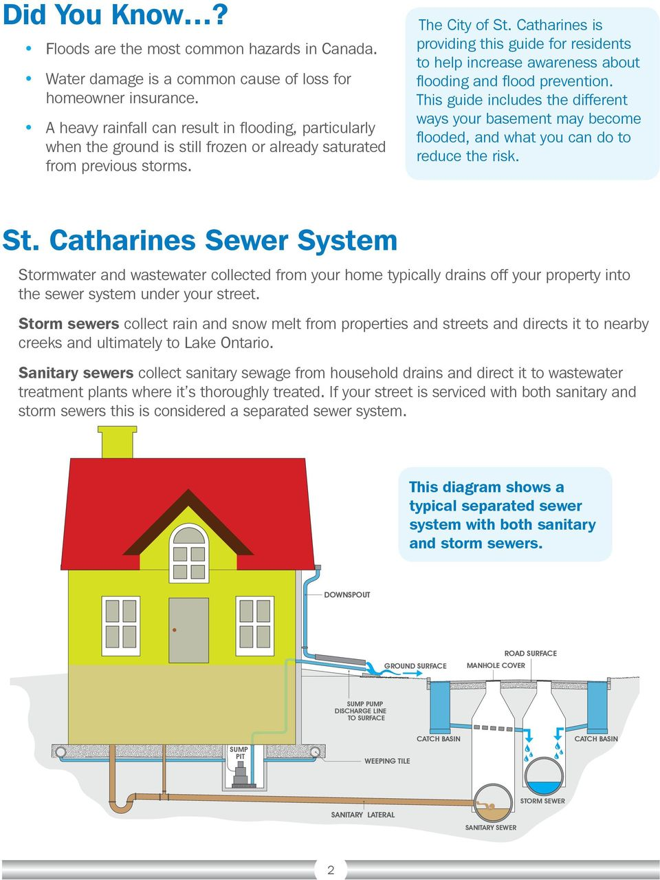 Catharines is providing this guide for residents to help increase awareness about flooding and flood prevention.