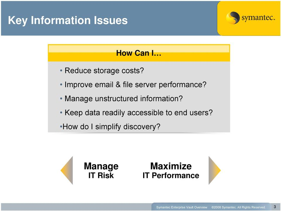 Manage unstructured information?