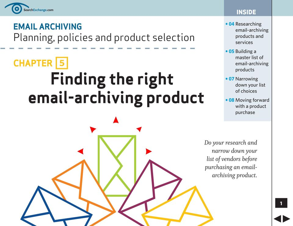 email-archiving product INSIDE 04 email-archiving products and services 05 of