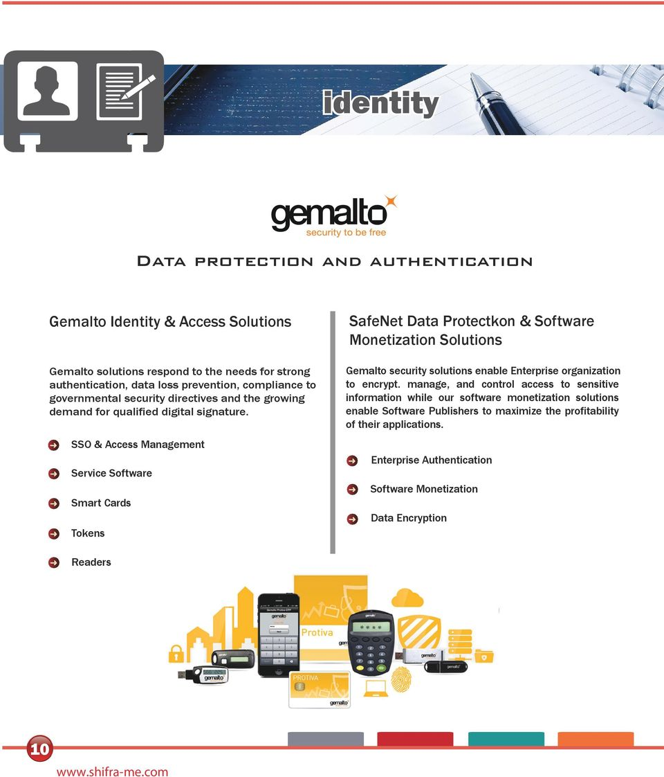 SafeNet Data Protectkon & Software Monetization Solutions Gemalto security solutions enable Enterprise organization to encrypt.