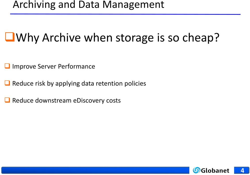 Improve Server Performance Reduce risk by