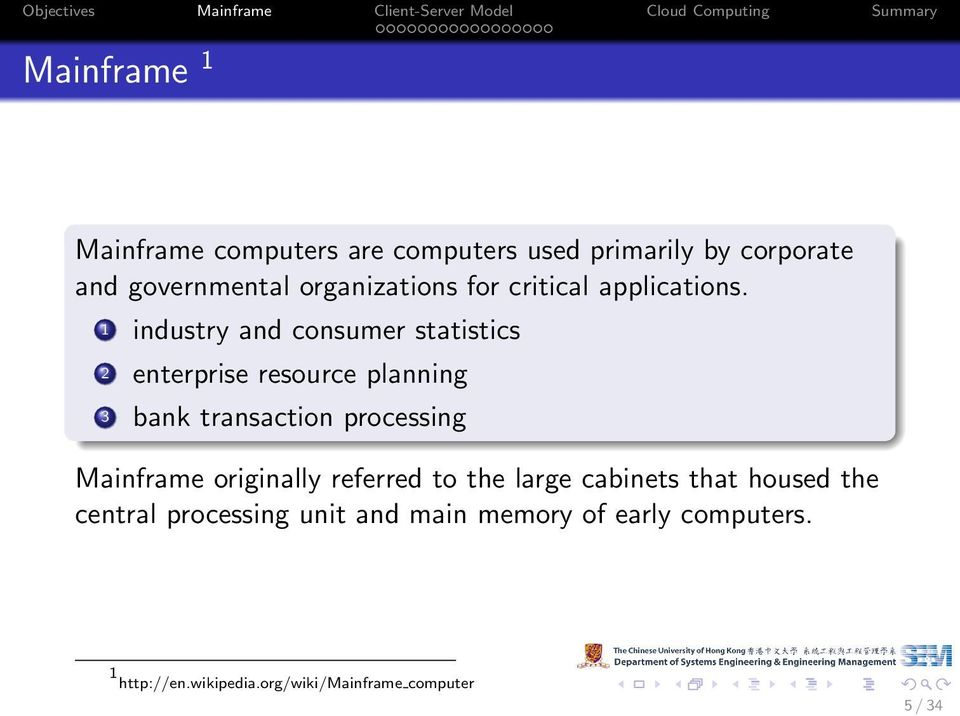 1 industry and consumer statistics 2 enterprise resource planning 3 bank transaction processing
