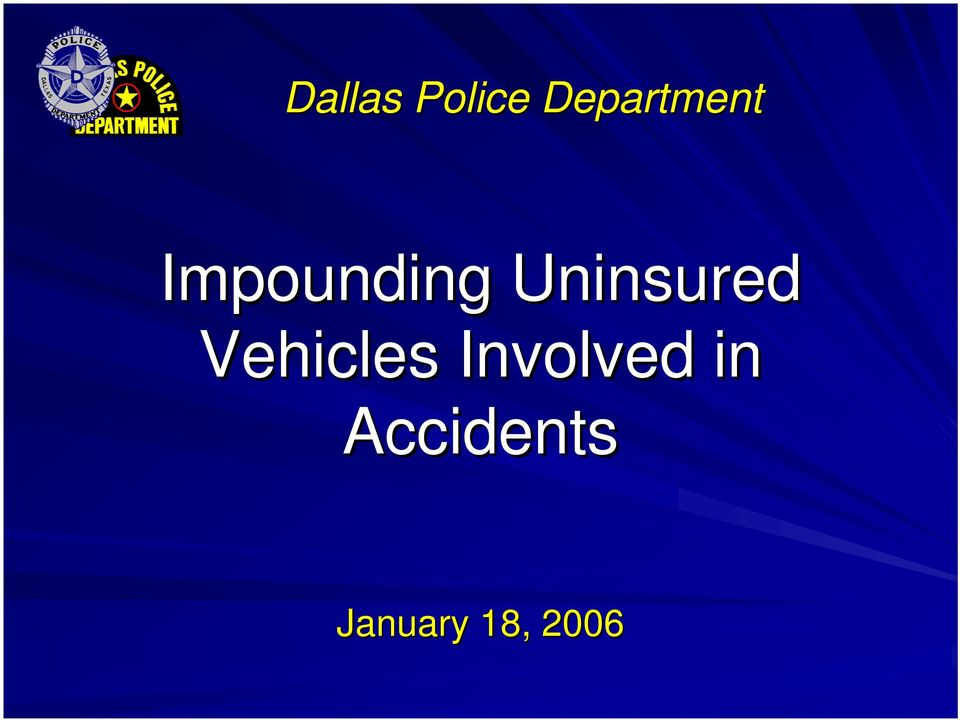 Uninsured Vehicles