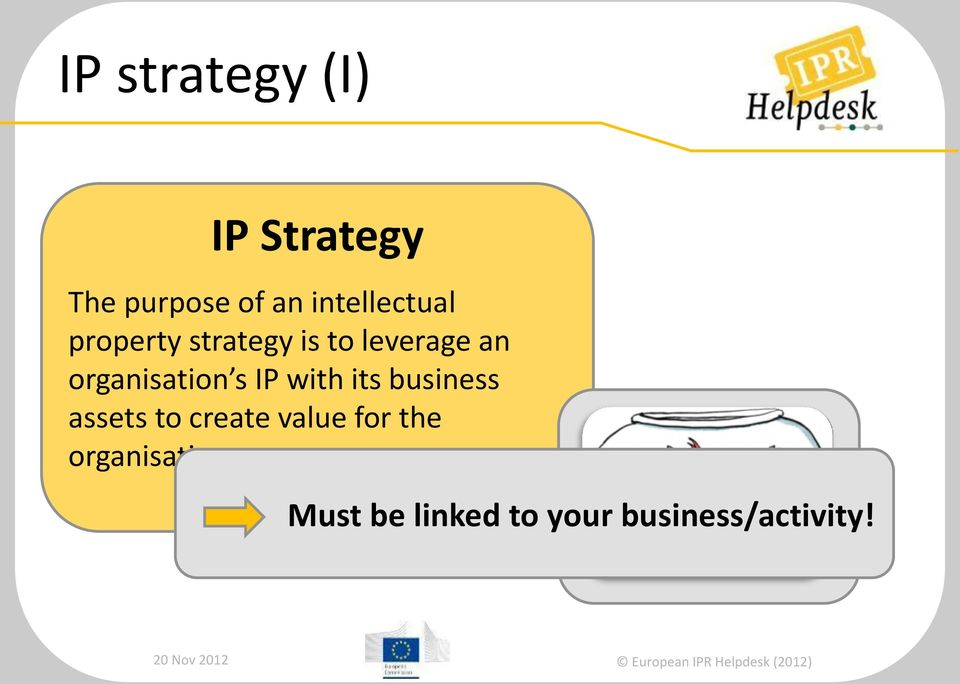 organisation s IP with its business assets to create