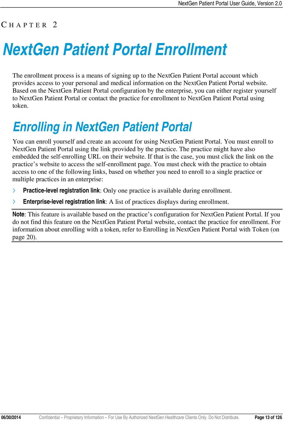 the NextGen Patient Portal website.