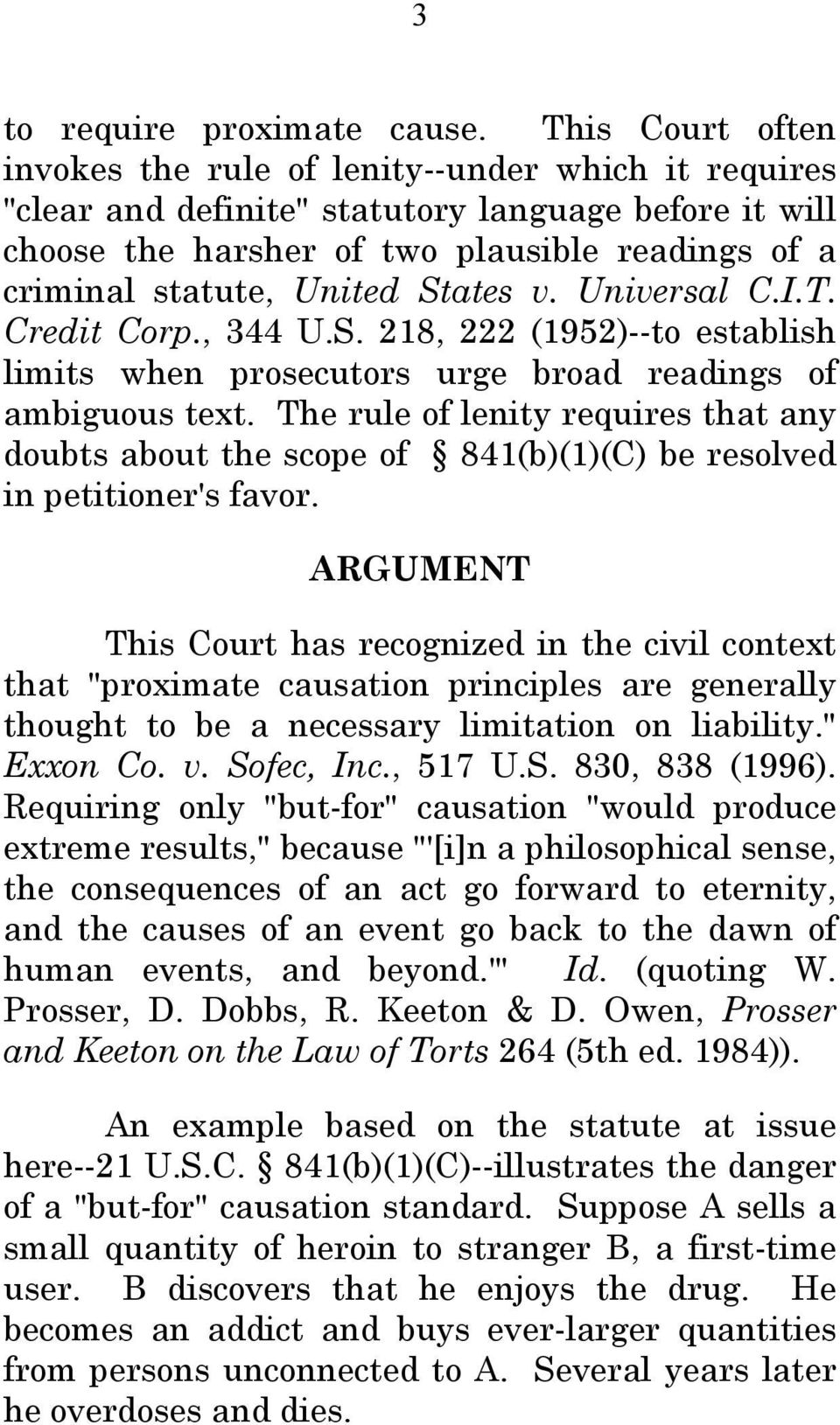 States v. Universal C.I.T. Credit Corp., 344 U.S. 218, 222 (1952)--to establish limits when prosecutors urge broad readings of ambiguous text.