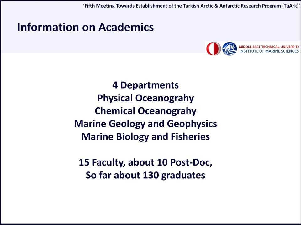 and Geophysics Marine Biology and Fisheries 15