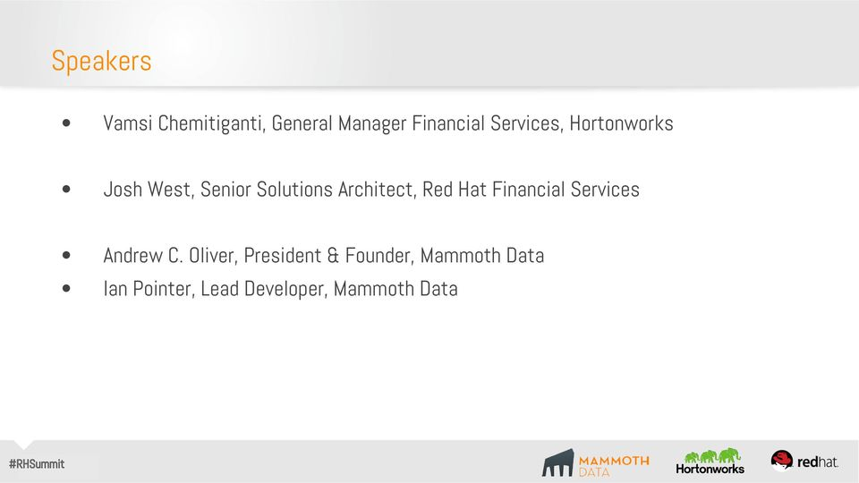 Architect, Red Hat Financial Services Andrew C.