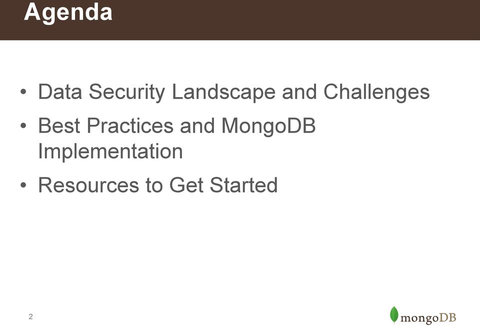 Best Practices and MongoDB