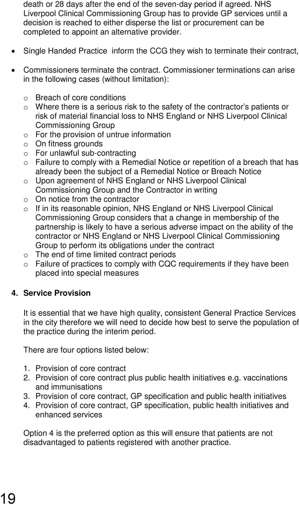 How to write a service specification nhs