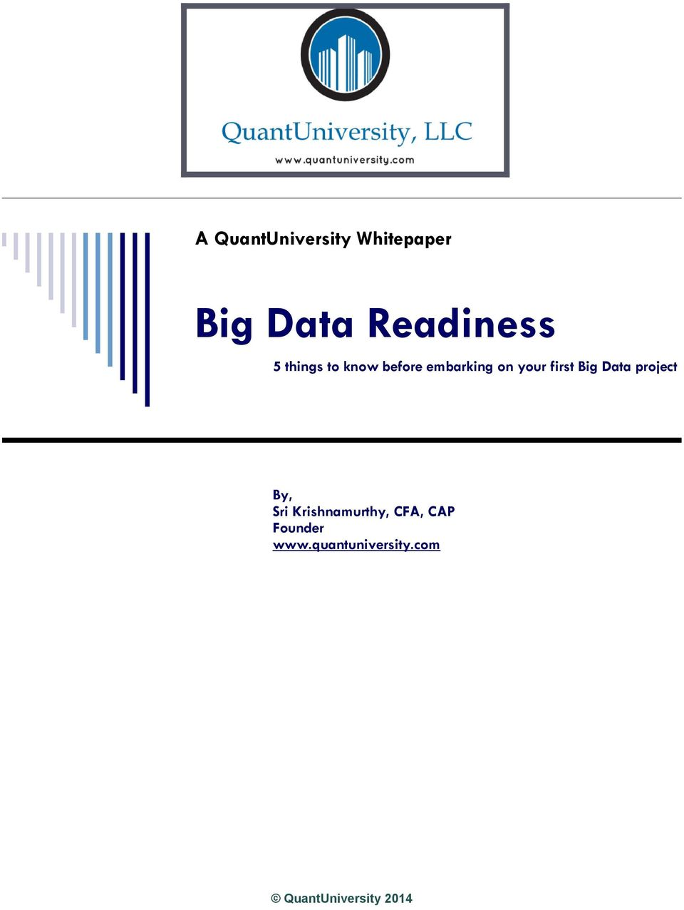 on your first Big Data project By, Sri