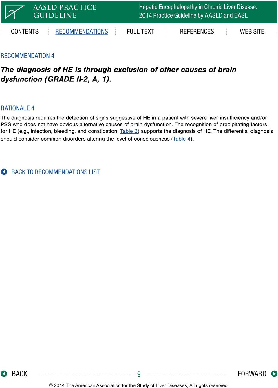 not have obvious alternative causes of brain dysfunction. The recogn