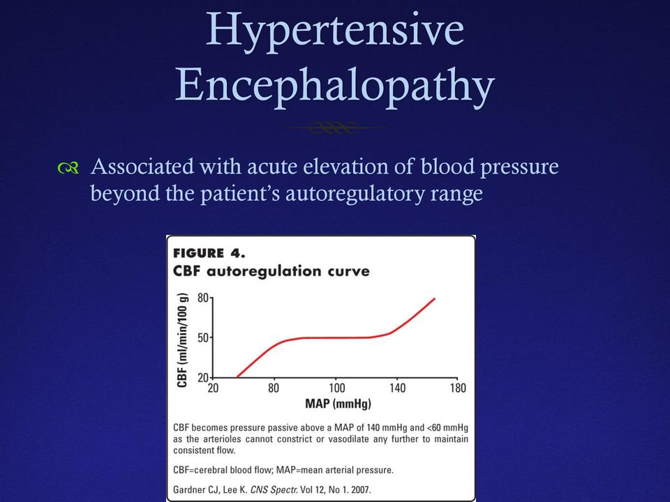 elevation of blood pressure