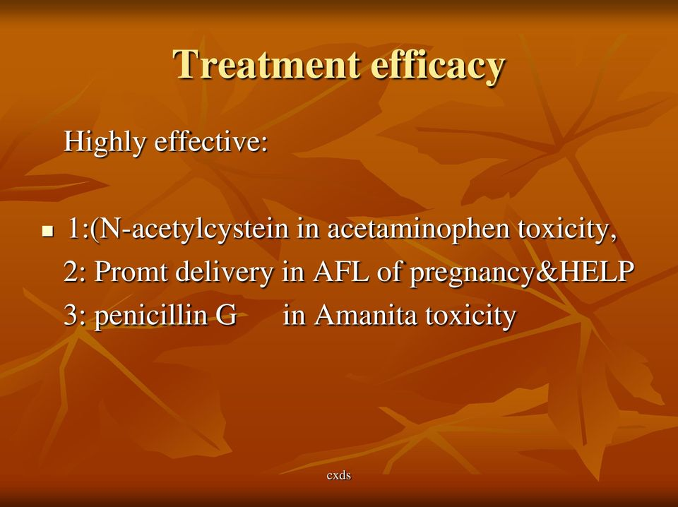 toxicity, 2: Promt delivery in AFL of