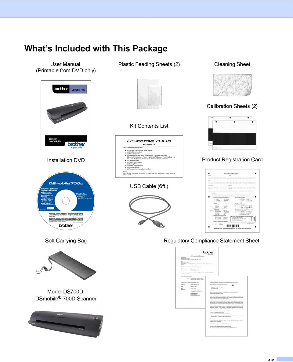 List Installation DVD Product Registration Card USB Cable (6ft.
