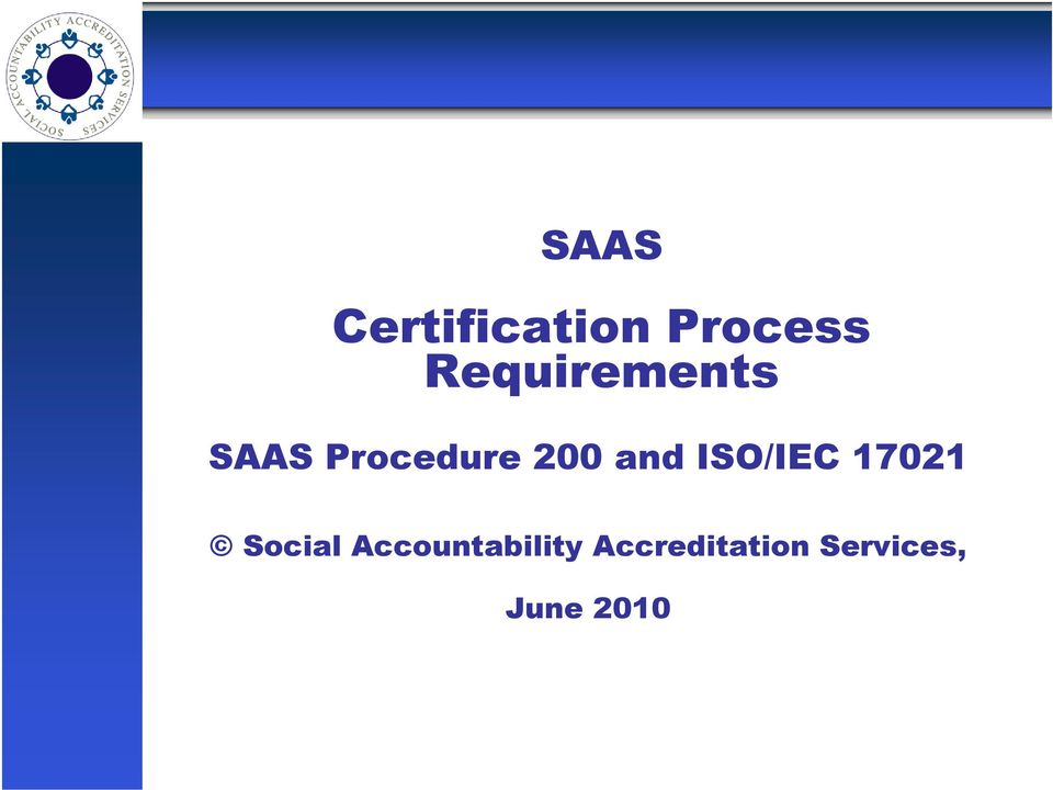and ISO/IEC 17021 Social