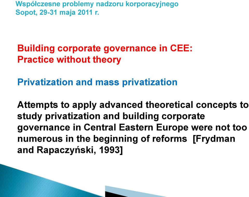 Corporate governance and theories
